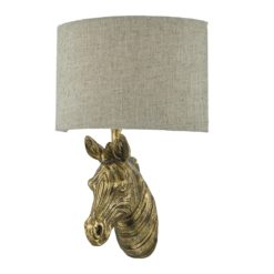 Dar ABB0735- Abby 1lt Wall Light, Gold, Natural