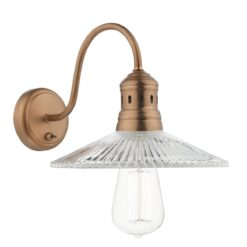 Dar ADE0764- Adeline 1lt Wall Light, Copper, Glass