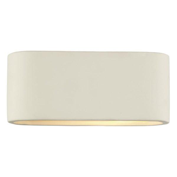 Dar AXT072- Axton 1lt Wall Light, White, Ceramic