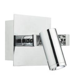 Dar BEX0750- Bex 1lt Wall Light, Polished Chrome