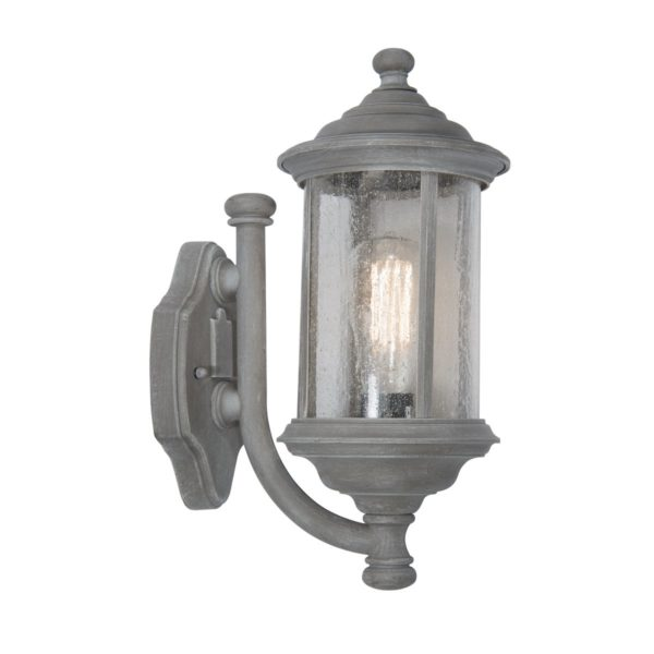 Dar BRO1661- Brompton 1lt Wall Light, Grey, Glass