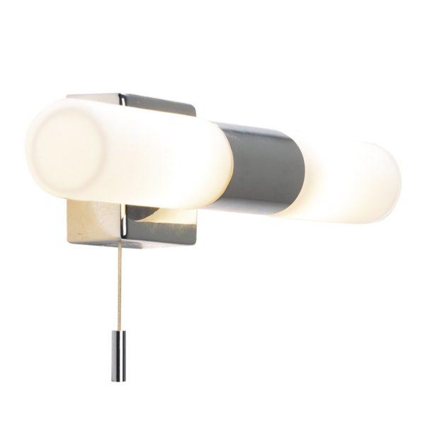 Dar BUE0950- Bueno 2lt Wall Light, Polished Chrome, Opal Glass