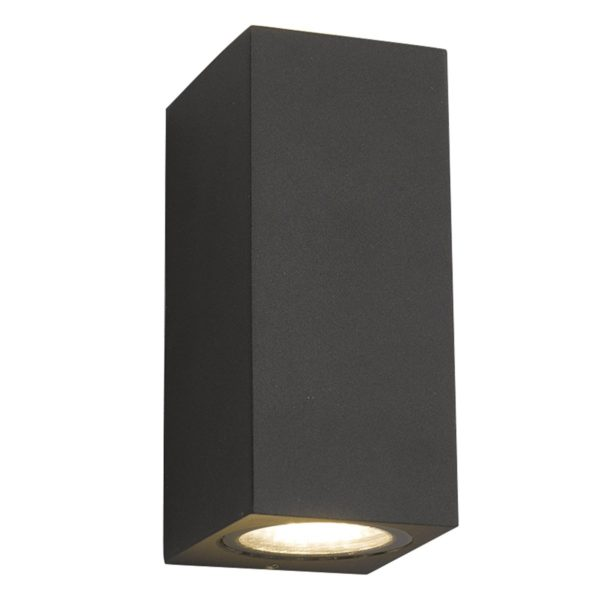 Dar BYE3237- Byers 2lt Wall Light, Grey