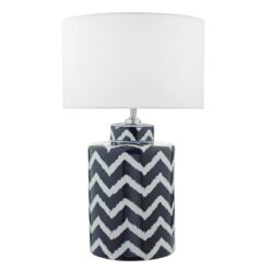 Dar CAE4223- Caelan 1lt Table Lamps, Blue, White