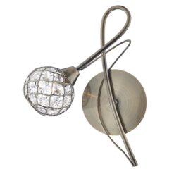Dar CIR0775- Circa 1lt Wall Light, Antique Brass, Glass