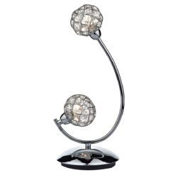 Dar CIR4250- Circa 2lt Table Lamps, Polished Chrome, Glass