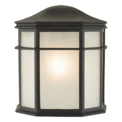 Dar DUL2122- Dulbecco 1lt Wall Light, Black, Acrylic
