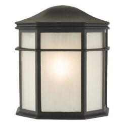 Dar DUL2122- Dulbecco 1lt Wall Light, Black, Acrylic