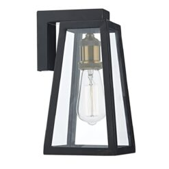 Dar DUV1522- Duv 1lt Wall Light, Black, Copper