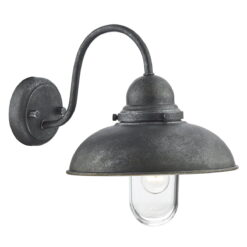 Dar DYN0737- Dynamo 1lt Wall Light, Aged Iron, Glass
