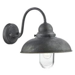 Dar DYN0737- Dynamo 1lt Wall Light, Aged Iron, Glass