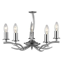 Dar ELK0546- Elka 5lt Multi Arm Pendant, Satin Chrome
