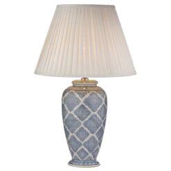Dar ELY4223- Ely 1lt Table Lamps, Ceramic, Blue