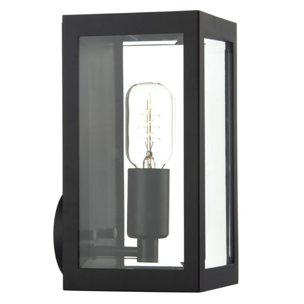 Dar ERA0722- Era 1lt Wall Light, Black, Glass