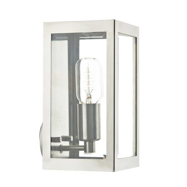 Dar ERA0744- Era 1lt Wall Light, Stainless Steel, Glass