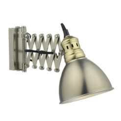 Dar ESR0761- Esra 1lt Spotlight, Antique Chrome, Natural Brass