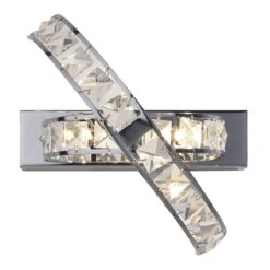 Dar ETE3050- Eternity 3lt Wall Light, Clear Faceted Crystal, Polished Chrome