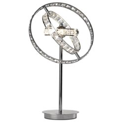Dar ETE4050- Eternity 4lt Table Lamps, Clear Faceted Crystal, Polished Chrome