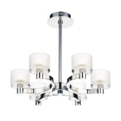 Dar ETO0650- Eton 6lt Semi Flush, Polished Chrome, Glass