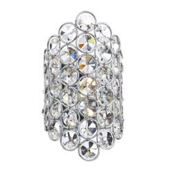 Dar FRO0750- Frost 1lt Wall Light, Clear Faceted Crystal, Polished Chrome