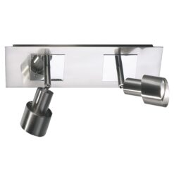 Dar FUT7746- Futura 2lt Spotlight, Polished Chrome, Satin Chrome