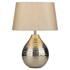 Dar GUS4032- Gustav 1lt Table Lamps, Silver