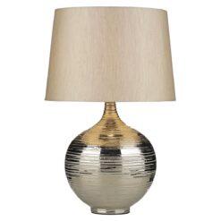 Dar GUS4332- Gustav 1lt Table Lamps, Silver