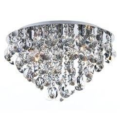 Dar JES5450- Jester 5lt Flush, Clear Faceted Crystal, Polished Chrome