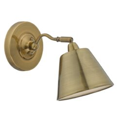 Dar KEM0775- Kempten 1lt Spotlight, Antique Brass