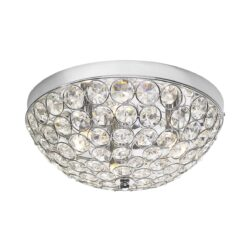 Dar KYR5350- Kyrie 3lt Flush, Clear Faceted Crystal, Polished Chrome