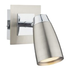Dar LOF0746- Loft 1lt Spotlight, Satin Chrome, Polished Chrome