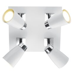 Dar LOF852- Loft 4lt Spotlight, White, Polished Chrome