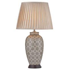 Dar LOU4229- Louise 1lt Table Lamps, Ceramic, Brown