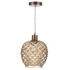 Dar MOS6535- Mosaic 1lt Shade, Smoked Moulded Glass