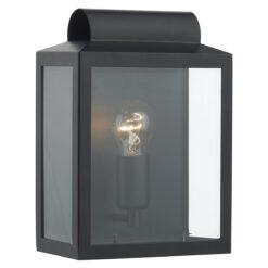 Dar NOT2122- Notary 1lt Wall Light, Black, Glass