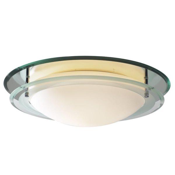 Dar OSI502- Osis 1lt Flush, Mirror Glass, Opal Glass