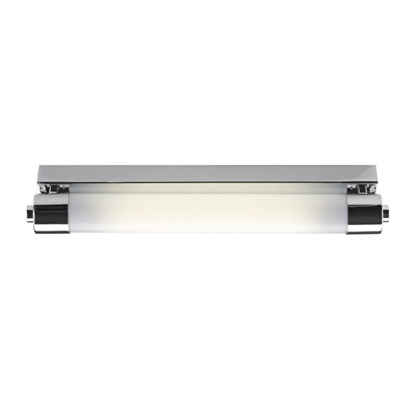 Dar PER0702- Perkins 1lt Wall Light, Polished Chrome, Opal Plastic