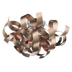 Dar RAW0464- Rawley 4lt Flush, Brushed Copper, Polished Chrome