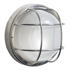 Dar SAL5044- Salcombe 1lt Wall Light, Stainless Steel, Glass