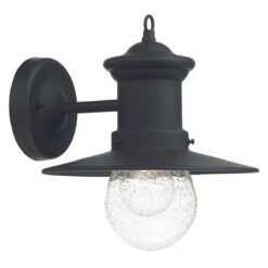 Dar SED1522- Sedgewick 1lt Wall Light, Black, Glass