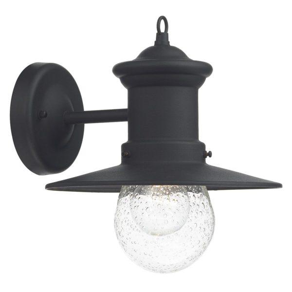 Dar SED1522- Sedgewick 1lt Wall Light, Black, Glass