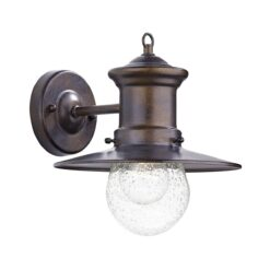 Dar SED1529- Sedgewick 1lt Wall Light, Bronze, Glass