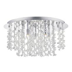 Dar SES5350- Sestina 5lt Flush, Clear Faceted Crystal, Polished Chrome