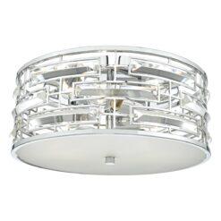 Dar SEV5250- Seville 3lt Flush, Polished Chrome, Clear Faceted Crystal