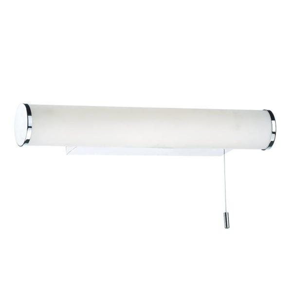Dar SUT0750- Sutton 1lt Wall Light, Polished Chrome, Opal Plastic
