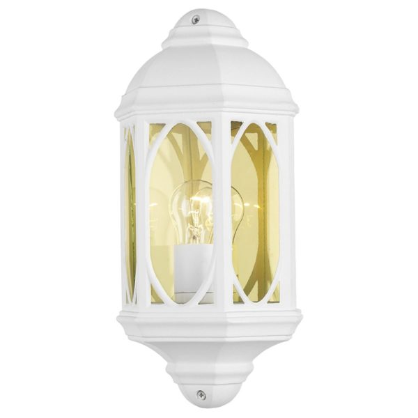 Dar TEN212- Tenby 1lt Wall Light, White, Glass