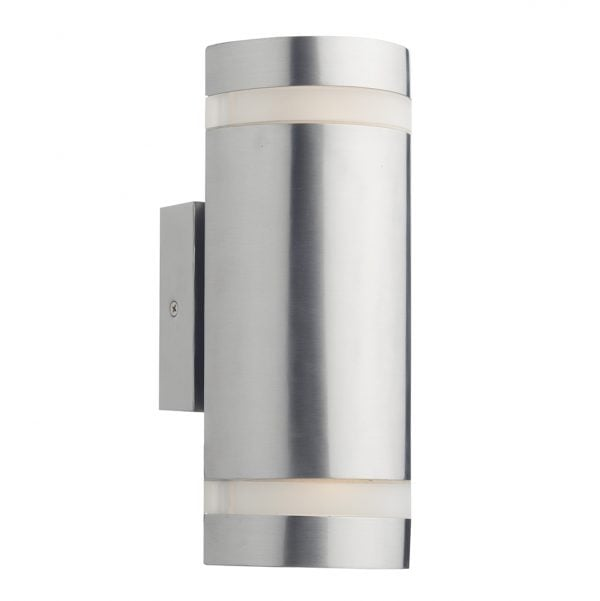 Dar WES2144- Wessex 2lt Wall Light, Stainless Steel