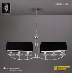 Mantra M0781- Akira 6lt Bar Pendant, Polished Chrome