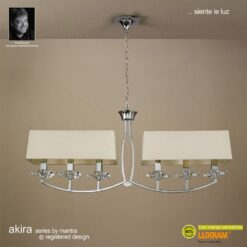 Mantra M0781/CS- Akira 6lt Bar Pendant, Polished Chrome
