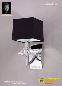 Mantra M0786- Akira 1lt Wall Light, Polished Chrome